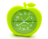 Promotional Apple Shape Mini Alarm Clock Silicone Mini Table Alarm Clocks for Children Gift