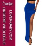 Solid Woman Skirt Maxi Long Skirt (L396-5)