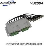 8 CH Passive CCTV Cat5/UTP Video Balun Transceiver (VB208A)