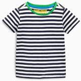 Black and White Stripe Custom T Shirts for Children (A155)