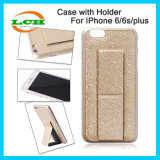 Standable Wristband PU Leather Back Cover Case for iPhone6