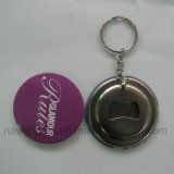 58mm Round Badge Opener Keyring