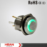 16mm High Round Ring LED Blue Light Push Button Switch
