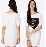 Factory Manufacture Short Sleeve Women Cotton T-Shirt Dresses