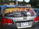 Custom Adhersive Vinyl One Way Vision Perforated Car Window Sticker