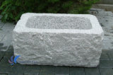 Grey Natural Stone Flower Pots for Garden/Outdoor