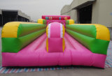 Inflatable Double Lanes Euro Jumping Trampoline Bungee Run for Sale