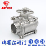 Welding 3PC Industry Ball Valve with Mounting Pad (BW)
