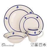 16PCS Simple Design Ceramic Dinner Set Home Use