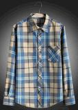 Men Plaid Long Sleeve Leisure Shirt