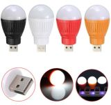 Portable Mini USB LED Bulb Emergency Light Lamp Torch Flashlight Attached Any Battery Pack Cellphone Charger