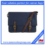 Spacious and Lightweight Dyed Canvas Messenger Bag for Men