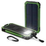 Waterproof Solar Power Bank with LED