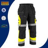 Men′s Cordura Reinforced Black Knee Pads Durable Work Pants