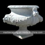 White Decorative Marble Stone Planter