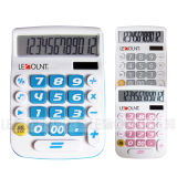 12 Digits Dual Power Desktop Calculator with Big LCD Display and Keys (LC201-12D)