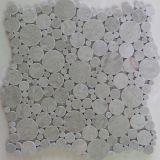White Marble Round Mosaic Tiles