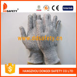 Ddsafety 2017 13G Black White Knitted Anti Cut Work Gloves