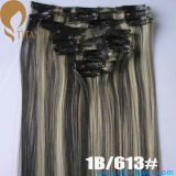 1b/613# Indian Remy Human Clip in Hair Pieces
