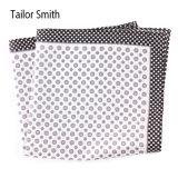 Luxury Silk Polyester Dots Plaid Flower Printed Pocket Square Hanky Handkerchief (SH-96)