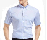 Top-Quality Men′s Slim Short-Sleeve Cotton Stripe Formal/Casual Business Shirt