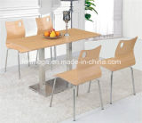 Comercial Snack Bar MFC Plywood Table Set (FOH-BC03)