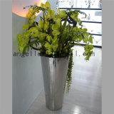 Hotel Hall Landscape Flower Planter Pot 201 304 Stainless Steel Garden Pot