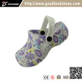 Confortable Kids Garden Clog Painting Shoes for Children 20288b-1