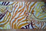 (BC-BT1020) Colorful 100% Velvet Carton Beach Towel