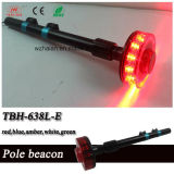 New Design Red Motorcylce Rear LED Revolving Beacon with Black Mounting Pole (TBH-638M-E)
