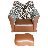 Mink Pattern Children Chair with Stool (SXBB-45)
