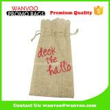 OEM Cheap Promotion Burlap Drawstring Wine Bag for Gift