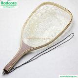 Ln05 Hard Wood Handle Clear Rubber Landing Net