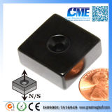 """N42 Expoy F1X1X1/2"""" W1#8 Countersunk Magnet"""