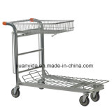 Nestable Stock Trolley with Folding Basket