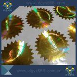 Customized Design Security Gold Color Laser Sticker