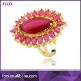 Zirconia Semi Joia Brass Gold Marquise Rings