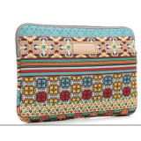 Fashion Modern Neoprene Lining Tablet Laptop Bag with Canvas Fabric