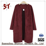 Top Hot Fashion Ladies Round Neck Outer Coat