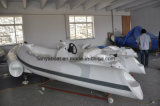 Liya 12.5FT Made in China Popular Small Fiberglass Rib Boat