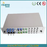 China Supplier Patch Panel for FTTH Terminal Box 48 Port Duplex Sc/LC Adapter with Transparent Plug