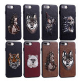 Mobile Phone Animal Embroidery Case for iPhone 7