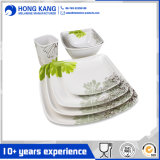 Custom Design Kitchenware Melamine Dinner Plate Set