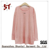 Wholesale High-Quality Pure Color Casual Long T-Shirt for Women