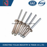 DIN7337 A2 A4 Stainless Steel Open End Blind Rivets with Break Pull Mandrel and Protruding Head