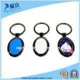 Simple Sublimation Blanks Oval Metal Keyring