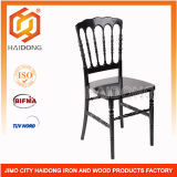 High Quality of Black Resin Napoleon Chair in Wedding
