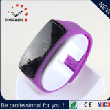 OEM Gift Silicone Wristband LED Watch with Mirror Face Erotic Watch 2015 (DC-054)