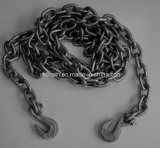 Blackened Chain Series G80 Link Chain with Hook