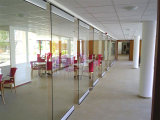 Movable Frameless Glass Partition Walls for Shopping Mall, Hotel, Restaurant